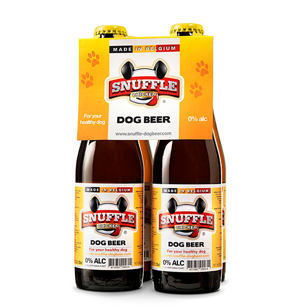 Snuffle Dogbeer 4 Bottles Chicken Flavour