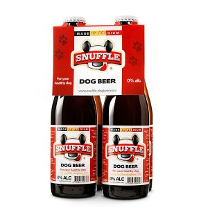 Snuffle Dogbeer 4 Bottles Mixed Chicken & Beef Flavour