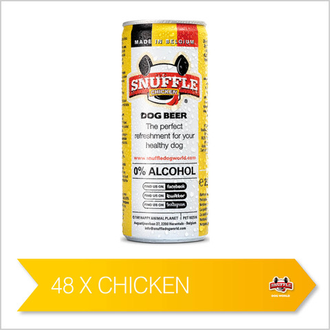 Snuffle Dog Beer Can - Chicken