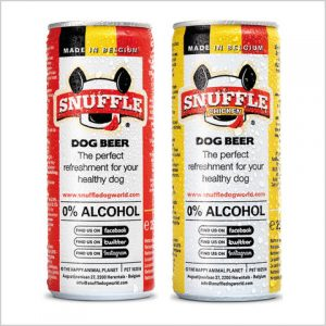 Snuffle Dog Beer Can - Combi Chicken And Chicken-Beef