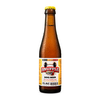 Snuffle Dogbeer - one bottle of chicken flavour beer