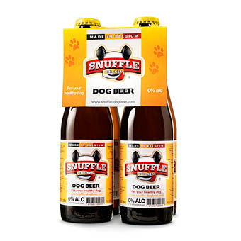 Snuffle Dogbeer chicken flavour - four pack