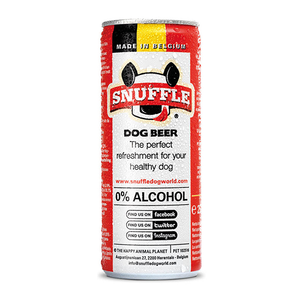 Snuffle Dog Beer Can - Mixed Chicken & Beef Taste